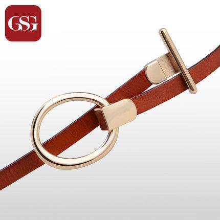 GSG女细金属扣裙饰皮带