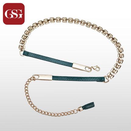 GSG女流苏金属吊坠皮带