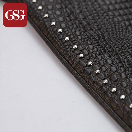 GSG女蜥蜴纹中长款真皮手套