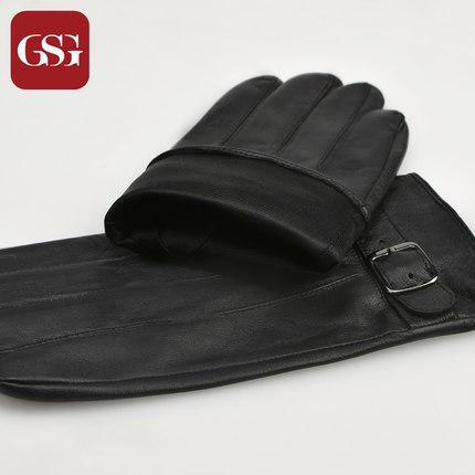 GSG男商务摸屏羊皮手套