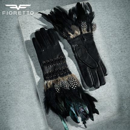 FIORETTO女链条分割短款真皮手套