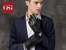 GSG男士冬季保暖皮手套